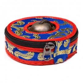 Housses pour cymbales bleu/rouge/noir grand modèle