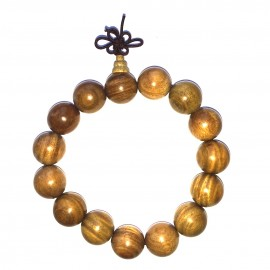 Bracelet mala tibétain - Bois de santal