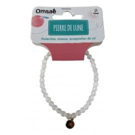 Bracelet Pierre de lune perles rondes 4mm