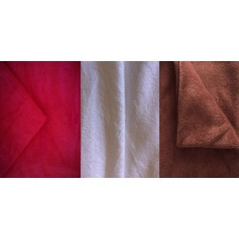 Lot de 3 housses de table en tissu-éponge S