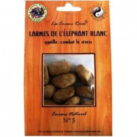 Encens rares - Larmes de l'éléphant blanc - vanille : combat le stress - 25g