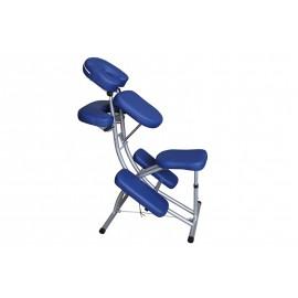 Chaise de massage ecoposturale confort plus bleue