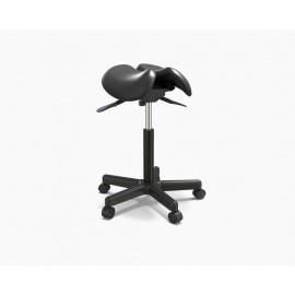 Tabouret à roulettes siège selle ergonomique noir deluxe