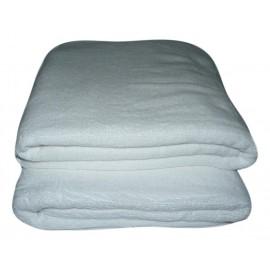Lot de 2 Serviettes de massage Blanches gamme spa 90x200cm