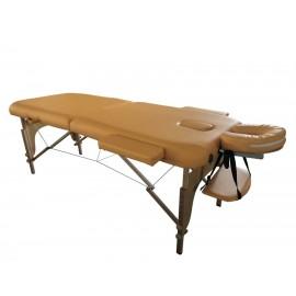Table de massage en bois pliante à 2 sections safran 186x71cm